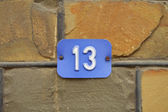 Number 13 — Stock Photo