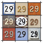 Numbers 29 — Stock Photo