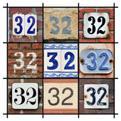Numbers 32 — Stock Photo