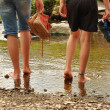 Stock Photo: Wading