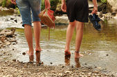 Wading — Stock Photo