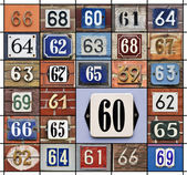 Numbers 60s — Stock Photo