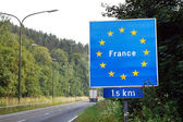Border of France — Stock Photo