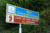 Champagne-Ardenne sign — Stockfoto