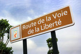 Liberty Road sign — Stock Photo