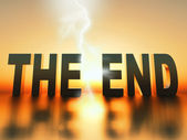 The end — Stok fotoğraf