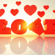 Love and heart — Stock Photo