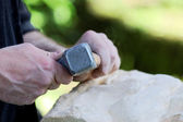 Stone sculptor — Stock Photo
