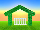 Green home — Stock Photo