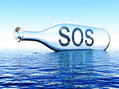 Sos in bottle — Stock Photo