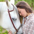 Horse and Human — Stock Photo