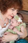 Grandmother and Grandaughter — Stock Photo