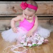 Baby ballerina — Stock Photo