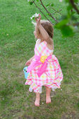 Picking blossoms — Stock Photo