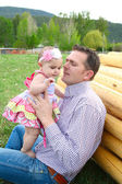 Pai e filha — Fotografia Stock