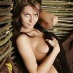 Portrait of nude girl . — Stock Photo