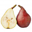 Постер, плакат: Red pear and half a pear