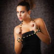 Stock Photo: Babe with beads