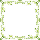 Green floral background — Stock Vector