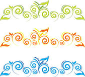 Swirl floral border.eps — Stock Vector