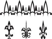 Ornament and arrow — Stock Vector