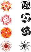 Abstract sun symbol — Stock Vector