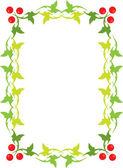 Green floral frame — Stock Vector