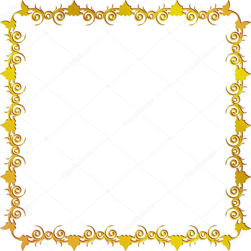 Marco Floral Dorado Archivo Im 225 Genes Vectoriales 17673143