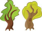 Green trees — Stock Vector