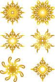 Gold star symbol — Stock Vector