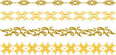 Gold floral border — Stock Vector