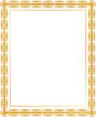 Gold frame — Stock Vector