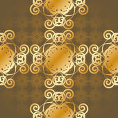 Seamless gold background — Stock Vector