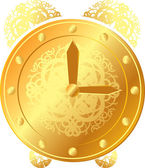 Gold clock — Stockvector