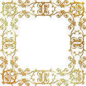 Gold floral frame — Stock Vector