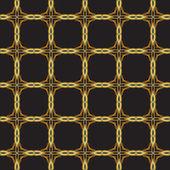 Seamless gold lattice — Stock Vector