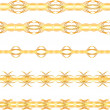 Gold seamless border — Stockvectorbeeld