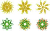 Floral spica symbols — Stock Vector