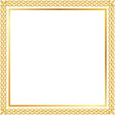 Spica gold frame — Stock Vector