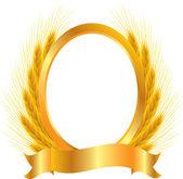 Zlatý medailónek — Stock vektor