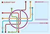 Subway map — Stock Vector