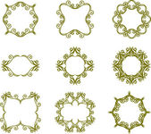 Floral vintage frames — Stock Vector