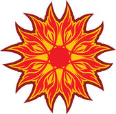Símbolo do sol — Vetor de Stock