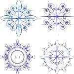 Blue snowflakes — Stock Vector #8078142