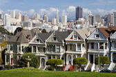 SAN FRANCISCO - NOVEMBER 2012: Painted Ladies, San Francisco-USA — Stock Photo