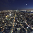 The New York City in twilight - Stock Photo