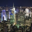 The New York City Uptown in the night — Stock Photo #16880937