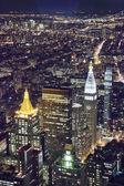 The New York City in twilight — Stock Photo