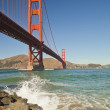 Stock Photo: Golden Gate Bridge w waves