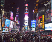 NEW YORK CITY - SEPT 28: Times Square, full of tourists — Stock Photo